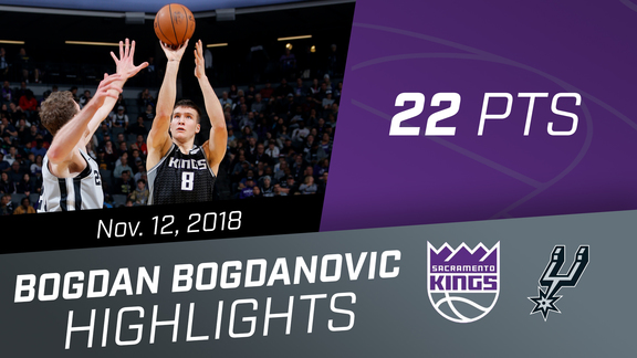 Bogdan Bogdanovic (22 pts) vs Spurs 11.12.18