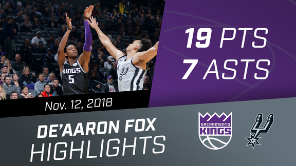 De'Aaron Fox (19 pts, 7 asts) vs Spurs 11.12.18