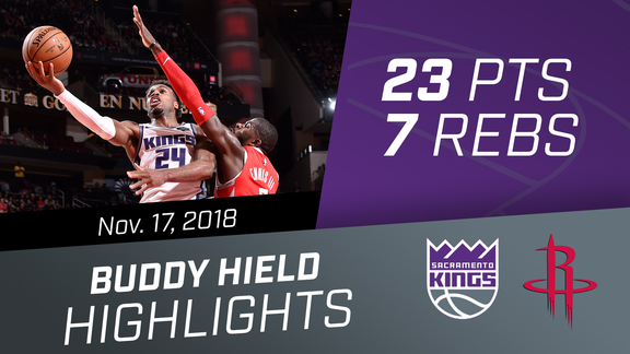 Buddy Hield (23 pts, 2 asts, 7 rebs) vs Rockets 11.17.18