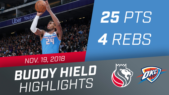 Buddy Hield (25 pts, 4 rbs) vs Thunder 11.19.18