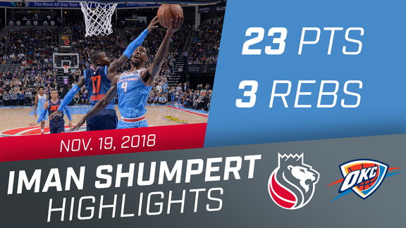 Iman Shumpert (23 pts, 3 rbs, 4 stls) vs Thunder 11.19.18