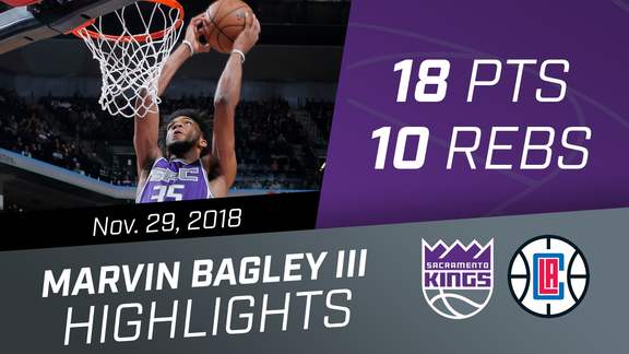Marvin Bagley III (18 pts, 10 rebs) vs Clippers 11.29.18