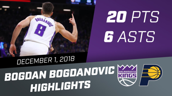 Bogdan Bogdanovic (20 pts, 6 asts) vs Pacers 12.1.18