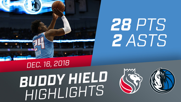Buddy Hield (28 pts, 2 asts, 4 rebs) vs Mavericks 12.16.18