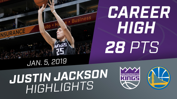 Justin Jackson (Career-high 28 PTS) vs Warriors 1.5.19