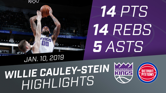 Willie Cauley-Stein (14 pts, 14 rebs, 5 asts) vs Pistons 1.10.19