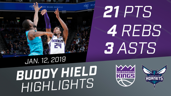 Buddy Hield (21 pts, 3 asts, 4 rebs) vs Hornets 1.12.19