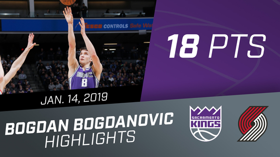 Bogdan Bogdanovic (18 pts) vs Trail Blazers 1.14.19