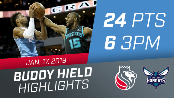 Buddy Hield (24 pts & 6 3PM) vs Hornets 1.17.19