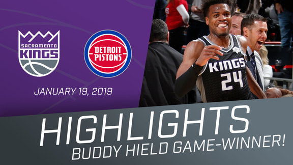 Kings at Pistons Highlights + Game-Winner 1.19.19
