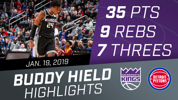 Buddy Hield (35 points) vs Pistons 1.19.19