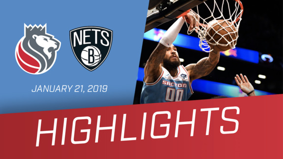 Kings vs Nets Highlights 1.21.19