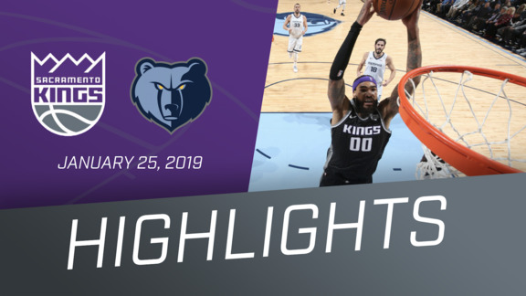 Kings at Memphis Highlights 1.25.19