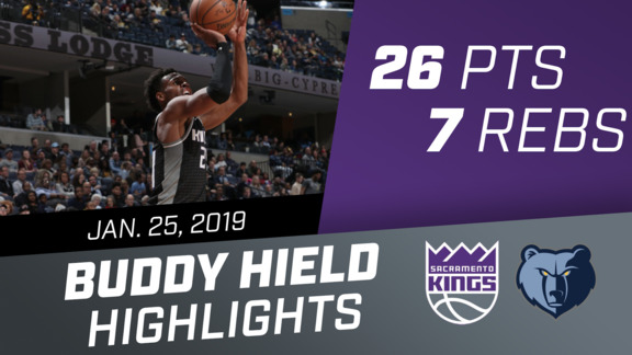 Buddy Hield (26 pts, 7 rebs) vs Grizzlies 1.25.19