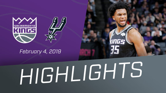 Kings vs Spurs Highlights 2.4.19