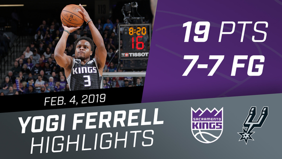 Yogi Ferrell (19 pts, 7-7 FG) vs Spurs 2.4.19
