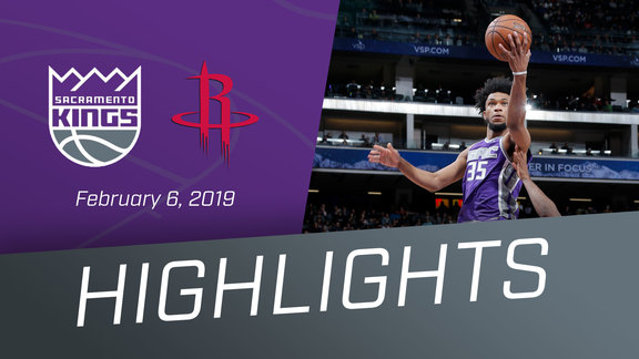 Kings vs Rockets Highlights 2.6.19