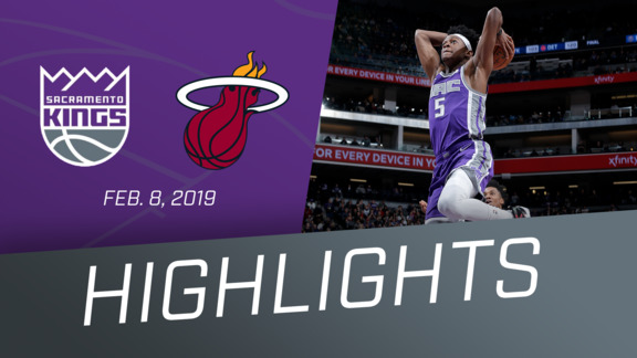Kings vs Heat Highlights 2.8.19