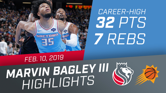 Marvin Bagley III (Career-High 32 pts) vs Suns