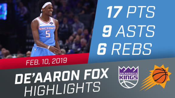 De'Aaron Fox (17 pts, 9 asts, 6 rebs) vs Suns 2.10.19