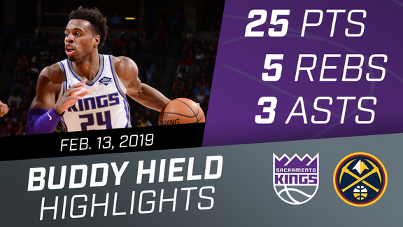 Buddy Hield (25 pts, 5 rebs, 3 asts) vs Nuggets 2.13.19