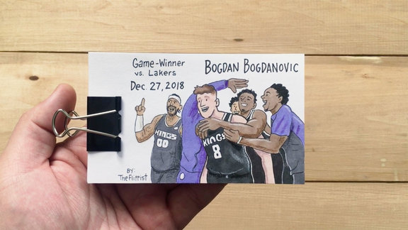 Bogdanovic Game-Winner Flip Book