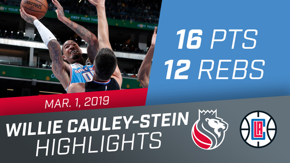 Willie Cauley-Stein (16 pts, 12 rebs) vs Clippers 3.1.19