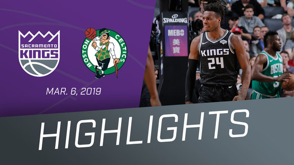 Kings vs Celtics Highlights 3.6.19