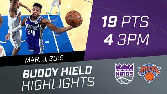 Buddy Hield (19 pts) vs Knicks 3.9.19