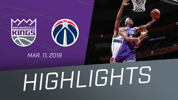 Kings vs Wizards Highlights 3.11.19