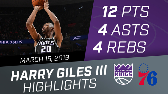 Harry Giles III (12 pts, 4 rebs) vs 76ers 3.15.19