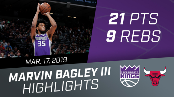 Marvin Bagley III (21 pts, 9 rebs) vs Bulls 3.17.19