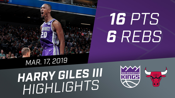 Harry Giles III (16 pts, 6 rebs) vs Bulls 3.17.19