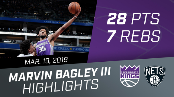 Marvin Bagley III (28 pts, 7 rebs) vs Nets 3.19.19