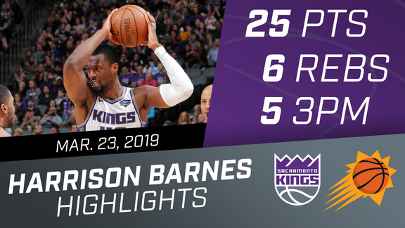 Harrison Barnes (25 pts & 6 rebs) vs Suns 3.23.19