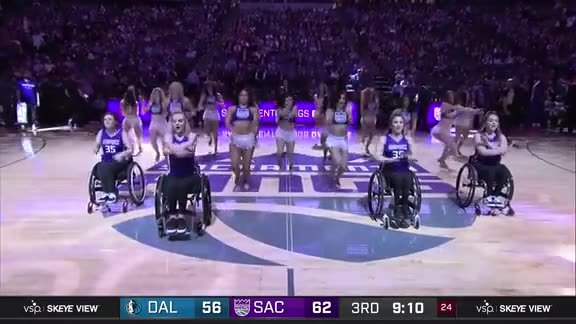 Kings Dancers with Rollettes Halftime Performance 3.21.19