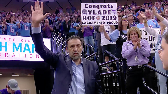 Vlade Divac Honored at Golden 1 Center