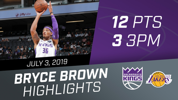 Bryce Brown (12 pts, 3 3PM) Highlights vs Lakers 7.3.19