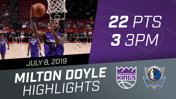 Milton Doyle (22 pts, 3 3PM) vs Mavs 7.8.19