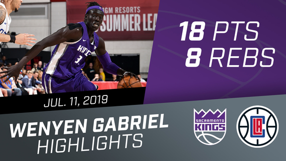 Wenyen Gabriel (18 pts, 8 rebs) Highlights vs Clippers 7.11.19