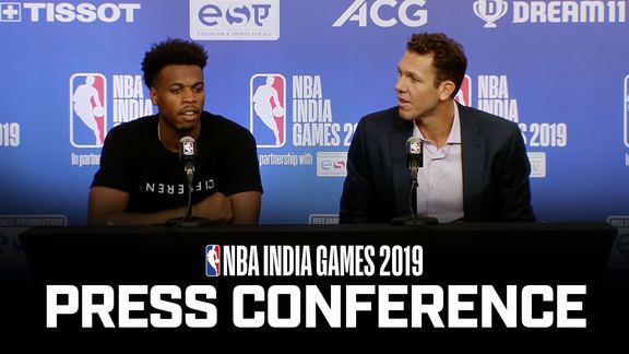 Buddy Hield & Luke Walton | NBA India Games Reaction