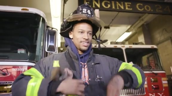 Trey Burke makes surprise visit to a NYC firehouse