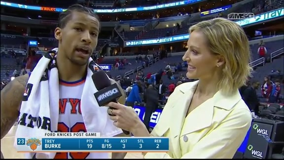 Burke's Walk-Off Interview with MSGN's Rebecca Haarlow, Postgame Knicks @ Wizards