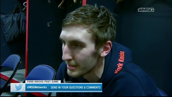 Knicks Locker Room: Kornet postgame vs. Wizards