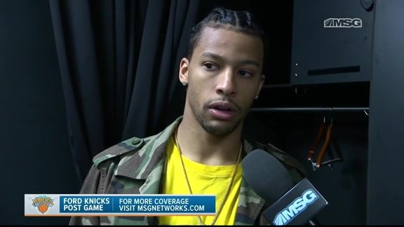 Knicks Locker Room: Trey Burke postgame, Mar 26 @ Hornets