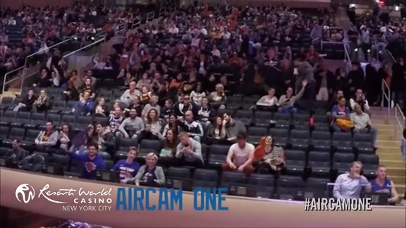 AirCamOne presented by Resorts World Casino: April 9 vs. Cavs