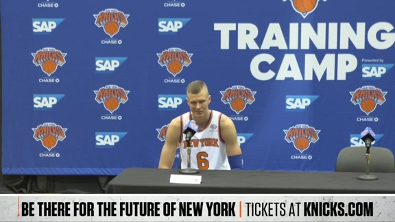 KP on the mic at Media Day