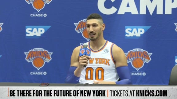 Media Day: Trey Burke, Lance Thomas, Enes Kanter