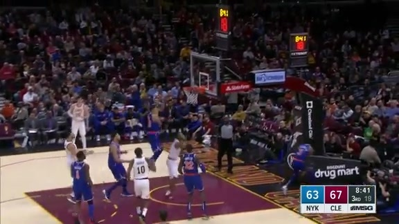 Knicks Highlights: Knox swats it off the glass