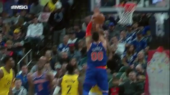 Knicks Highlights: Kanter goes up strong for the and-one